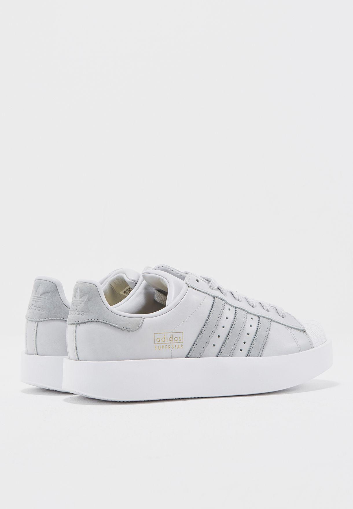 7eb4d0b46a3 Shop adidas Originals grey Superstar Bold W CG3694 for Women in ...