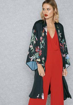 Wild Flower Print  Kimono