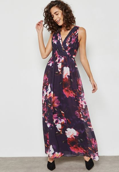 Orchid Print Dress