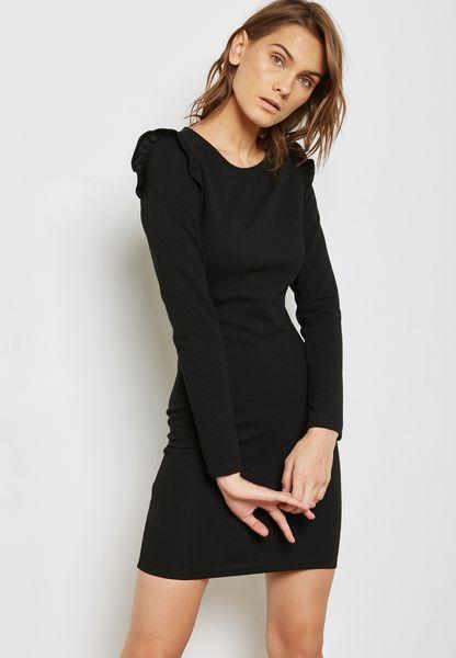 Ruffle Ribbed Dress
