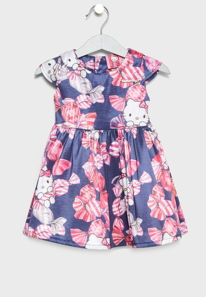 فستان بطبعات فيونكات