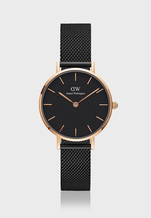Petite Ashfield RG Black 28mm Watch DW00100245