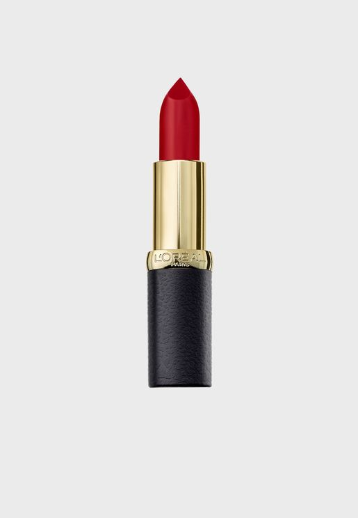 Color Riche Matte Obsession Lipstick 349 Cherry Front Row