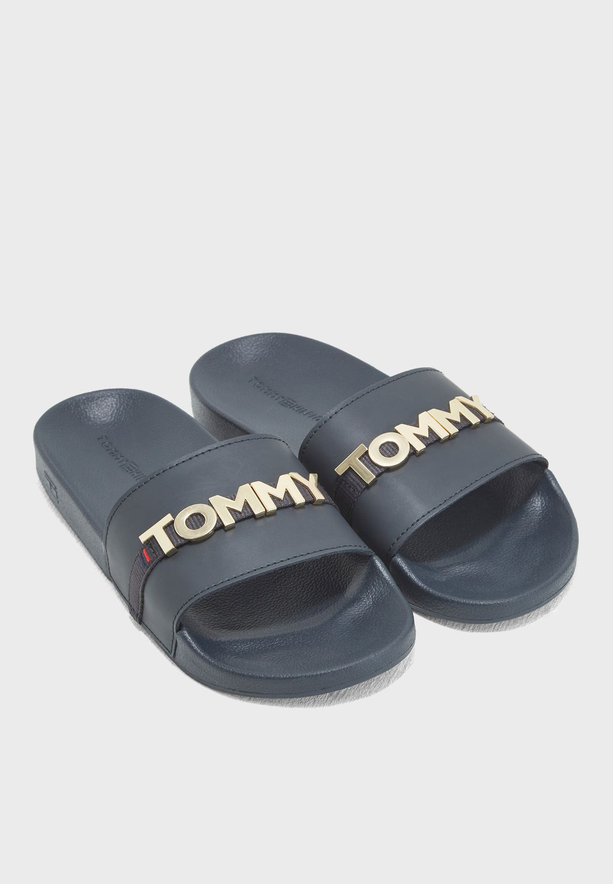 2f6def8a090 Shop Tommy Hilfiger navy Tommy Beach Slide FW0FW02965 for Women in ...