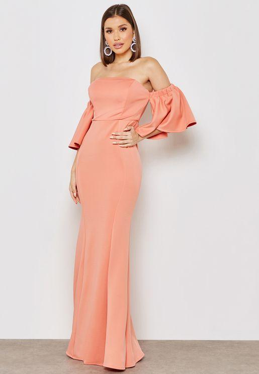 Bardot Bandeau Maxi Dress