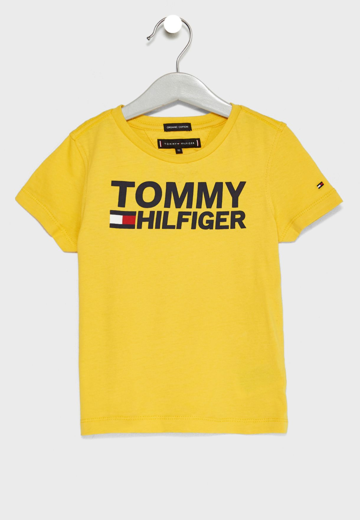 d95c9857f Shop Tommy Hilfiger yellow Little Logo T-Shirt KB0KB04078 for Kids in Saudi  - TO279AT77KMC
