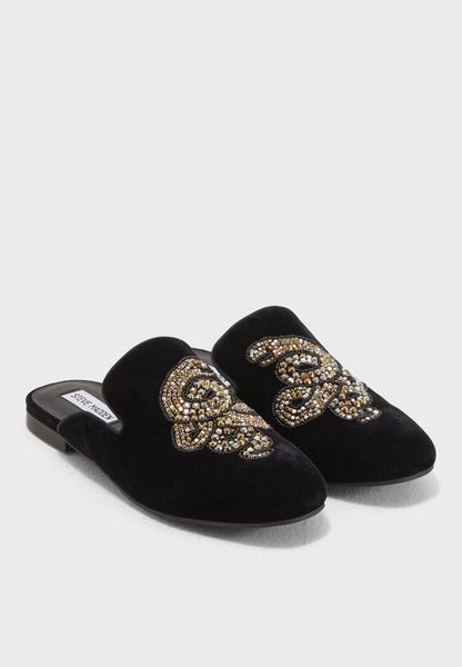 Shop Steve madden black Hugh Slip Ons HUGH for Women in Qatar - ST977SH77ONA
