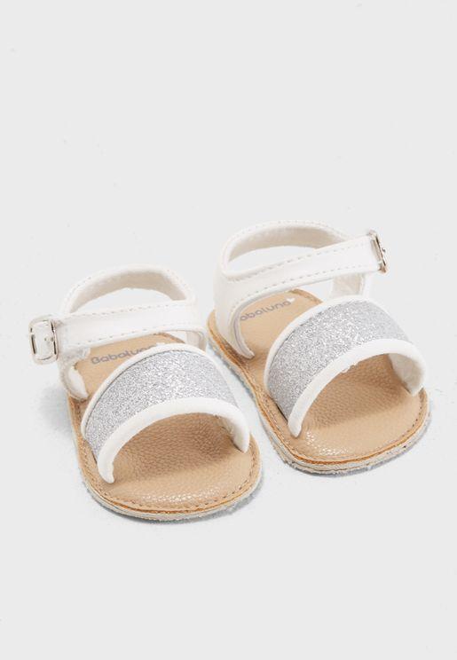 Infant Glitter Strap Sandal Gift Box