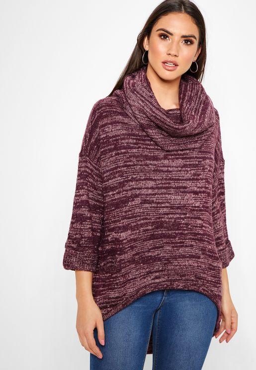 Roll Neck Longline Sweater