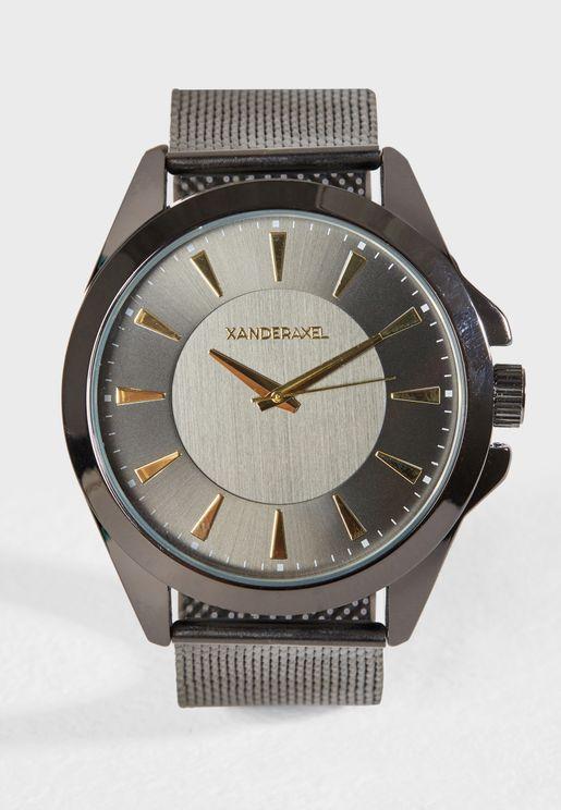 Oversized Mesh Watch