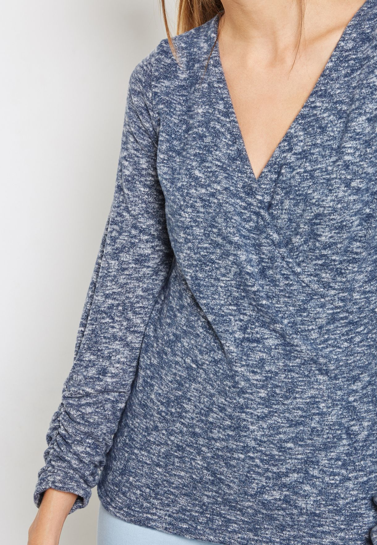 Ruched Wrap Top