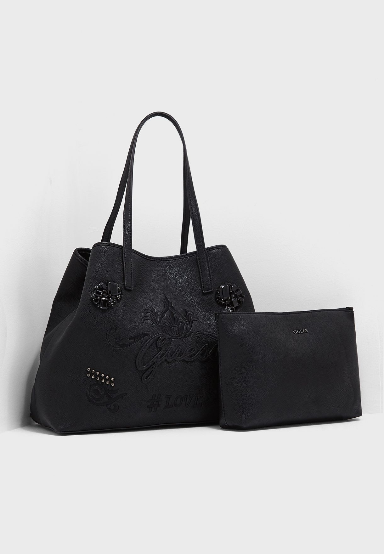 Shop Guess black Vikky Large Tote EJ699524BLA for Women in Saudi -  GU094AC77LGG 1474e0fcad080