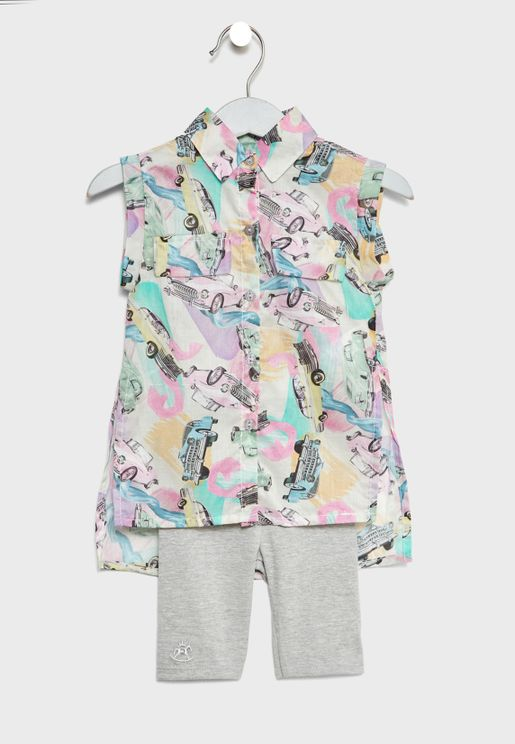 Infant Top + Calf-Length Pant Set
