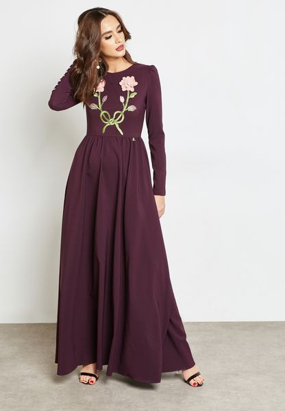 Embroidered Front Dress