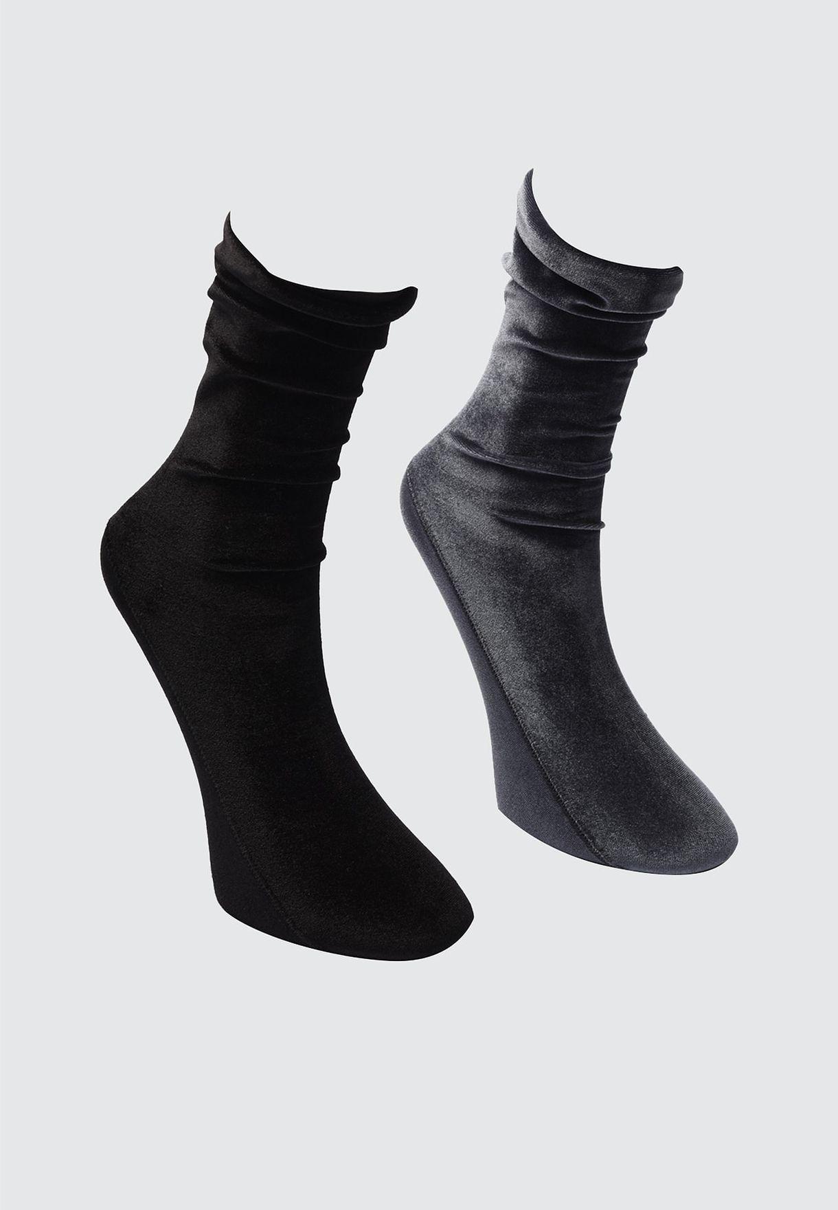 2 Pack Knitted Socks