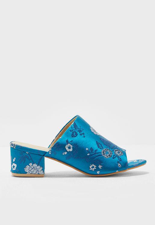 PeepToe Heel Sandals