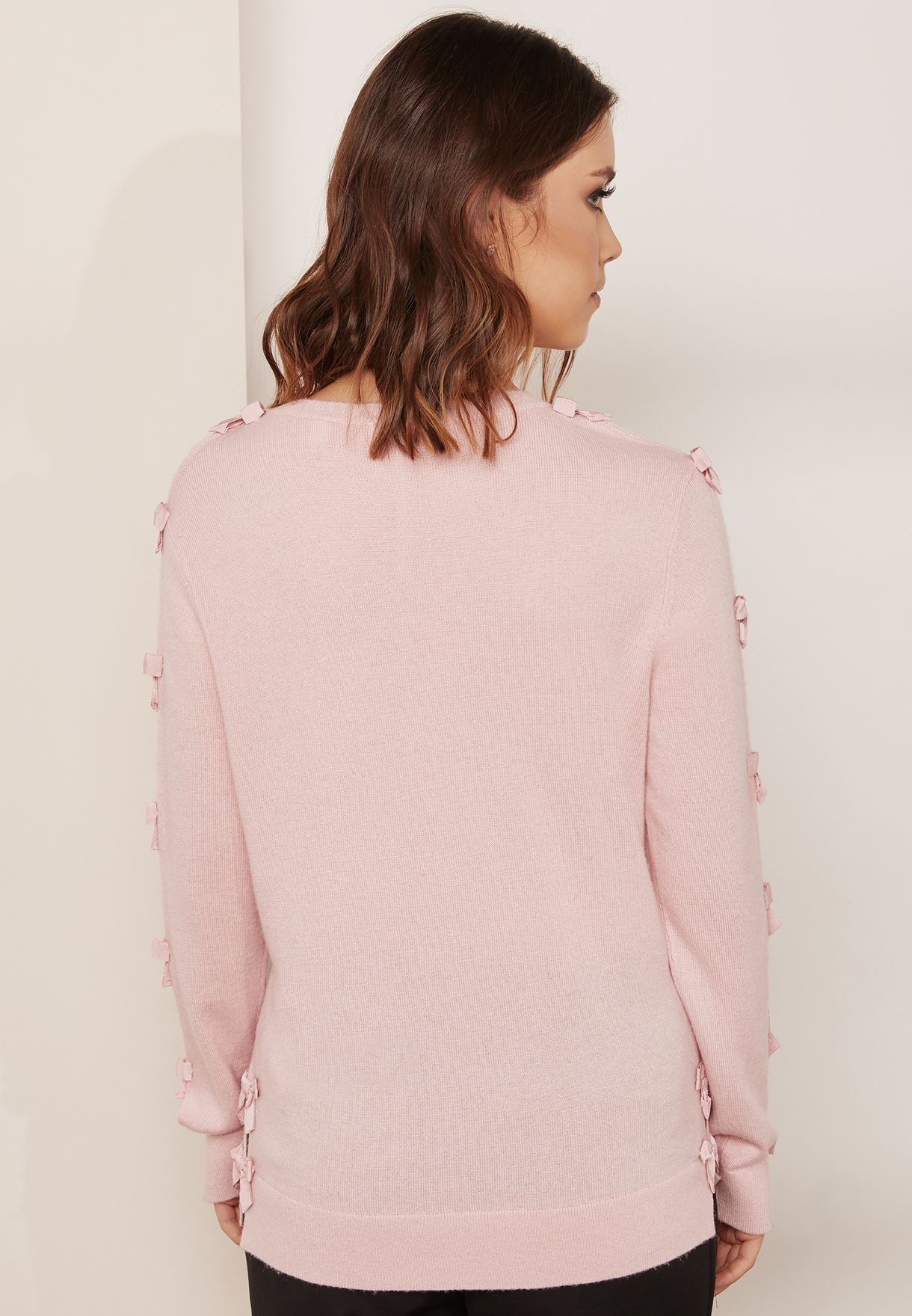 Bow Sleeve Detail Sweater