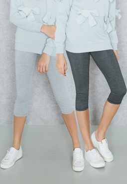 2 Pack Cropped Leggings