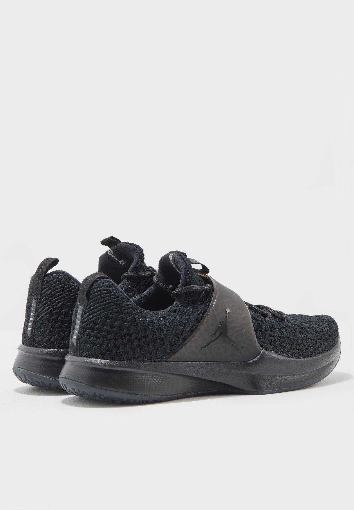 online store c7e4f fe7ca Shop Nike black Jordan Trainer 2 Flyknit 921210-013 for Men in Qatar ...