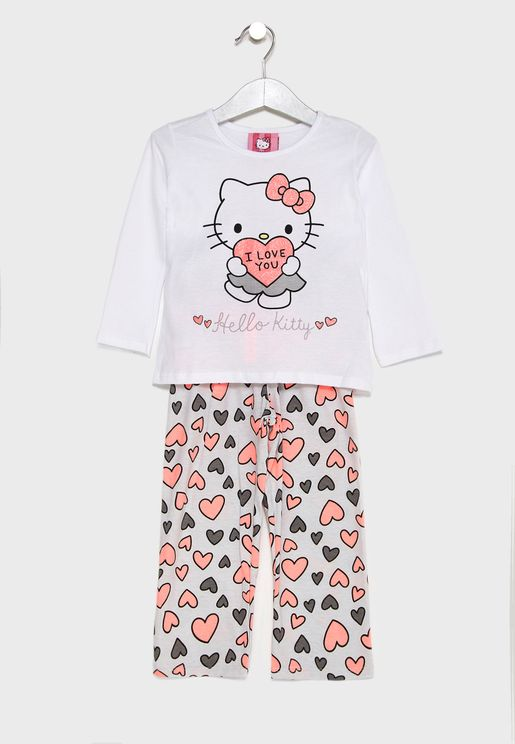 Kids Logo Printed Pyjama Set