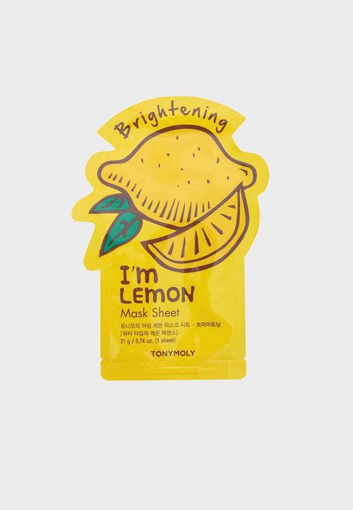 I Am Lemon Mask Sheet