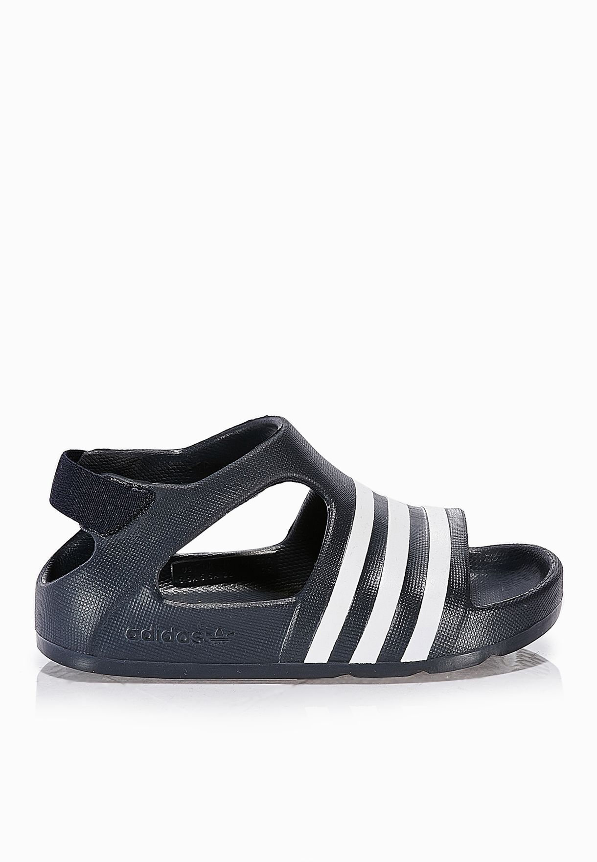 b319e6b4a69 Shop adidas Originals black Adilette Play Infant S74734 for Kids in ...