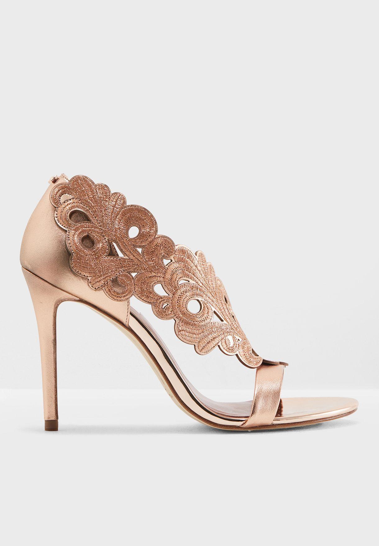 e51154db2065bc Shop Ted baker gold Myrana Sandal 917830 for Women in UAE - TE456SH77CVA