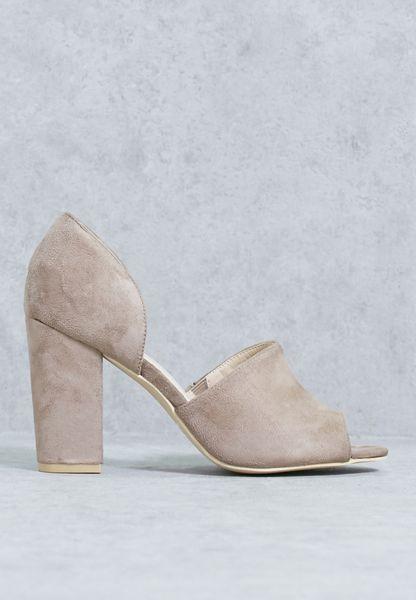 Leather Block Heel Sandal