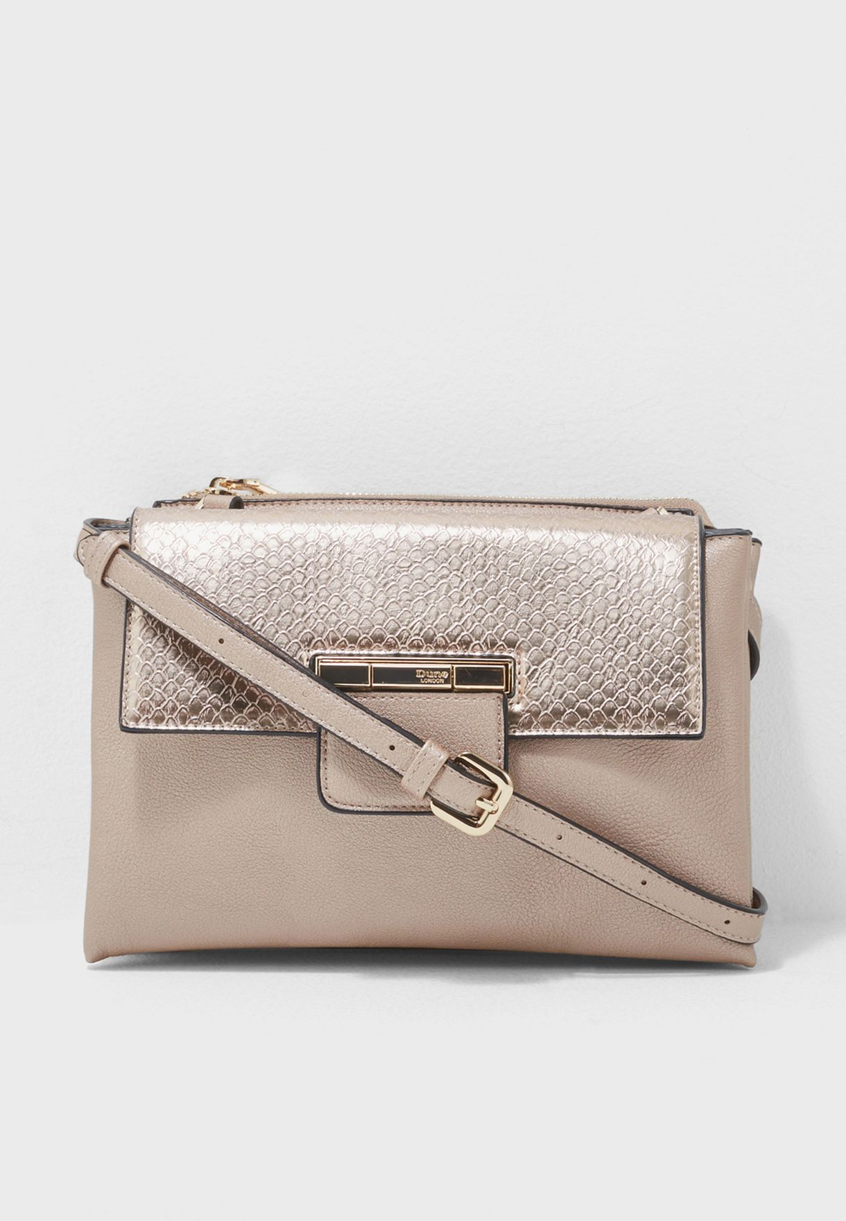 14aea3db81 Shop Dune London gold Dethany Di Crossbody 022500110145596 ...