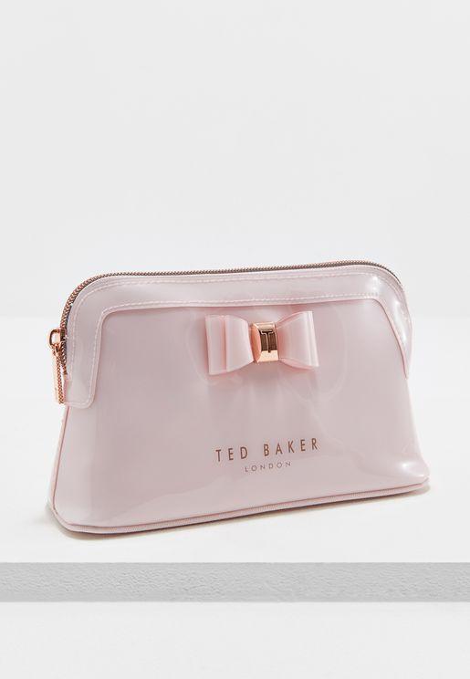 Bow Triangle Make Up Bag