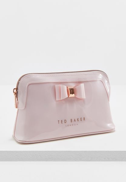Bow Triangle Make Up Bag