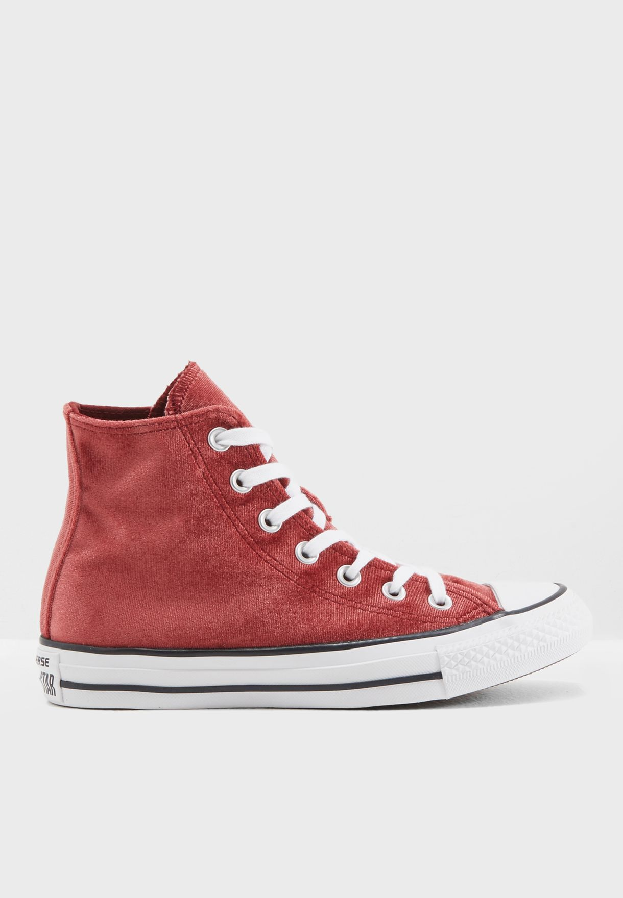 bbe0fceb30c4 Shop Converse red Chuck Taylor All Star Velvet CN557932C-607 for ...
