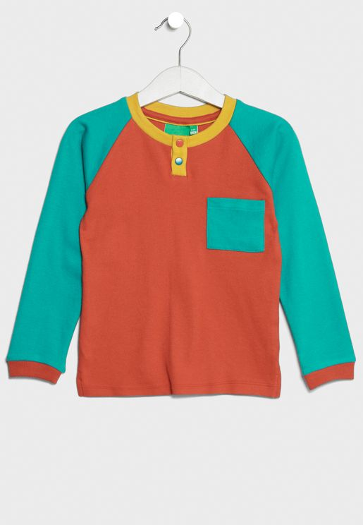 Little Organic Color Block T-Shirt