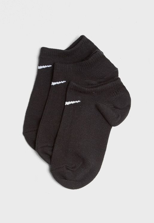 3 Pack No Show Cushion Socks