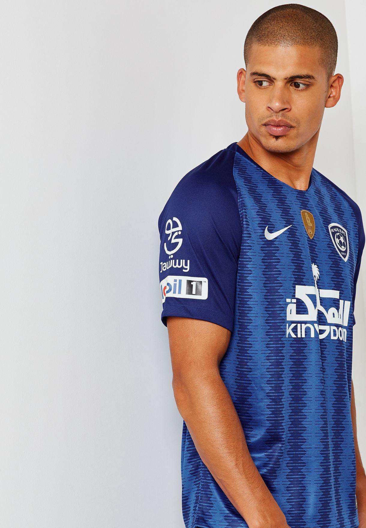 16fc2bd4af7c Shop Nike blue Al Hilal 18 19 Stadium Home Jersey 894427-480 for Men ...