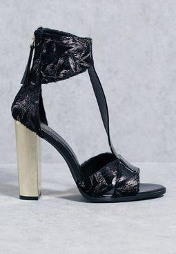 T-Bar Block Heel Sandals