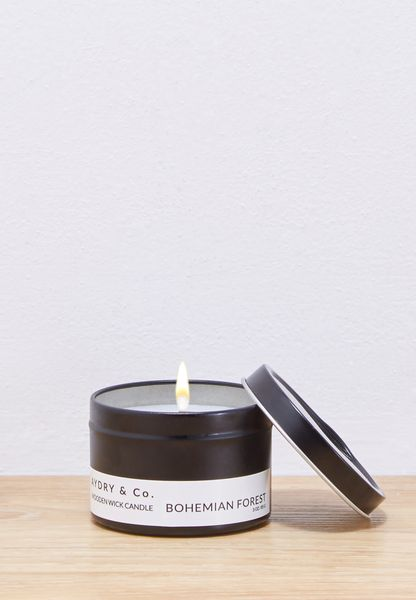 Mini Bohemian Forest Wooden Wick Tin Candle