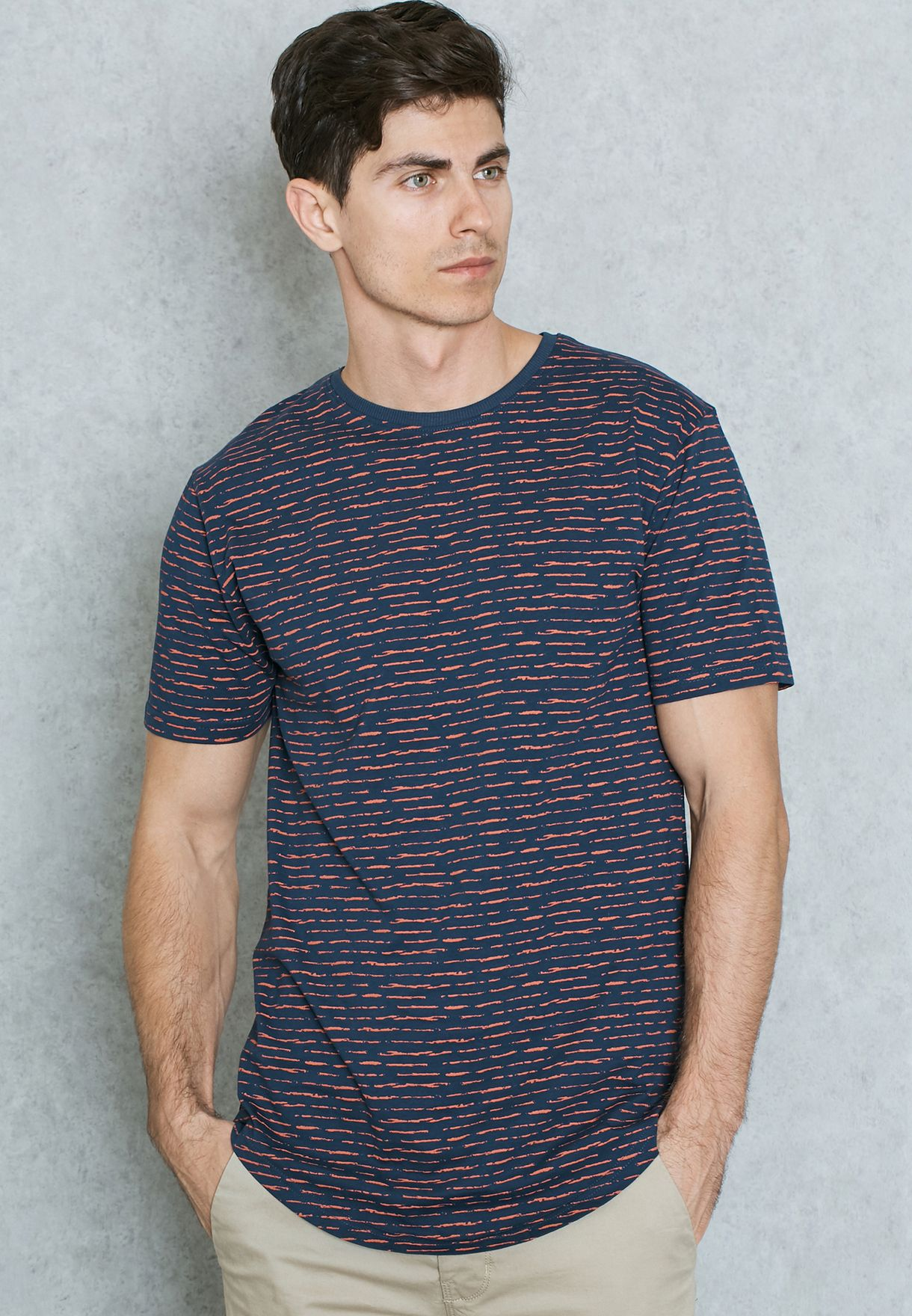 dec243a9b7d Shop Only sons navy Curved Long Line T-Shirt 22005352 for Men in UAE ...
