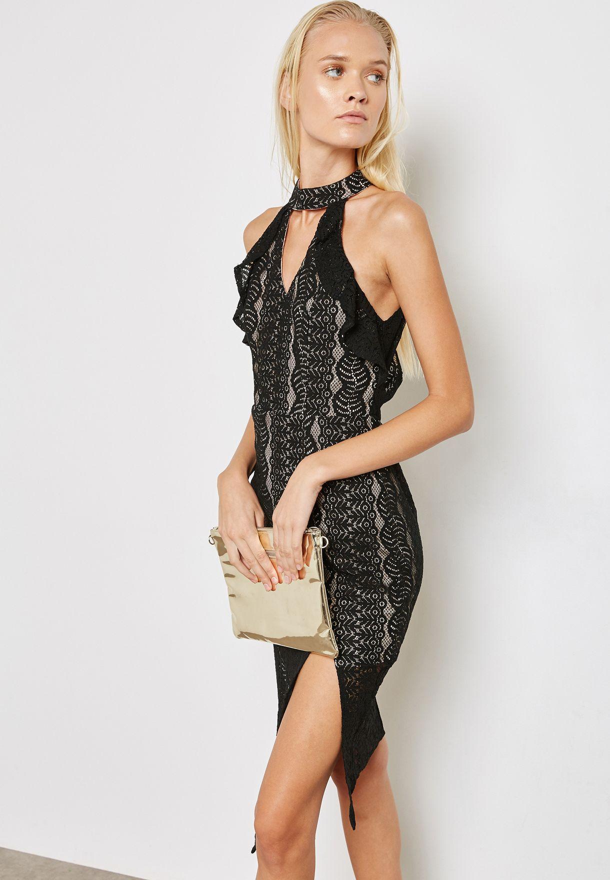 22743485061 Shop Love Triangle black Choker Detail Dress LT71381 for Women in ...