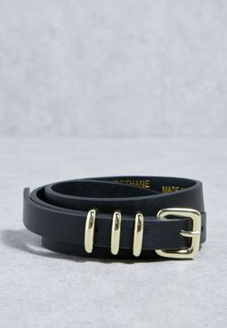 Skinny Triple Keeper Belt