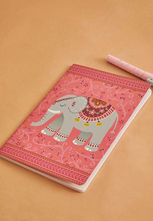 A5 Mandala Elephant Notebook