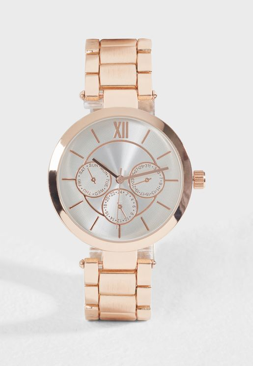 Rose Gold Analogue Watch