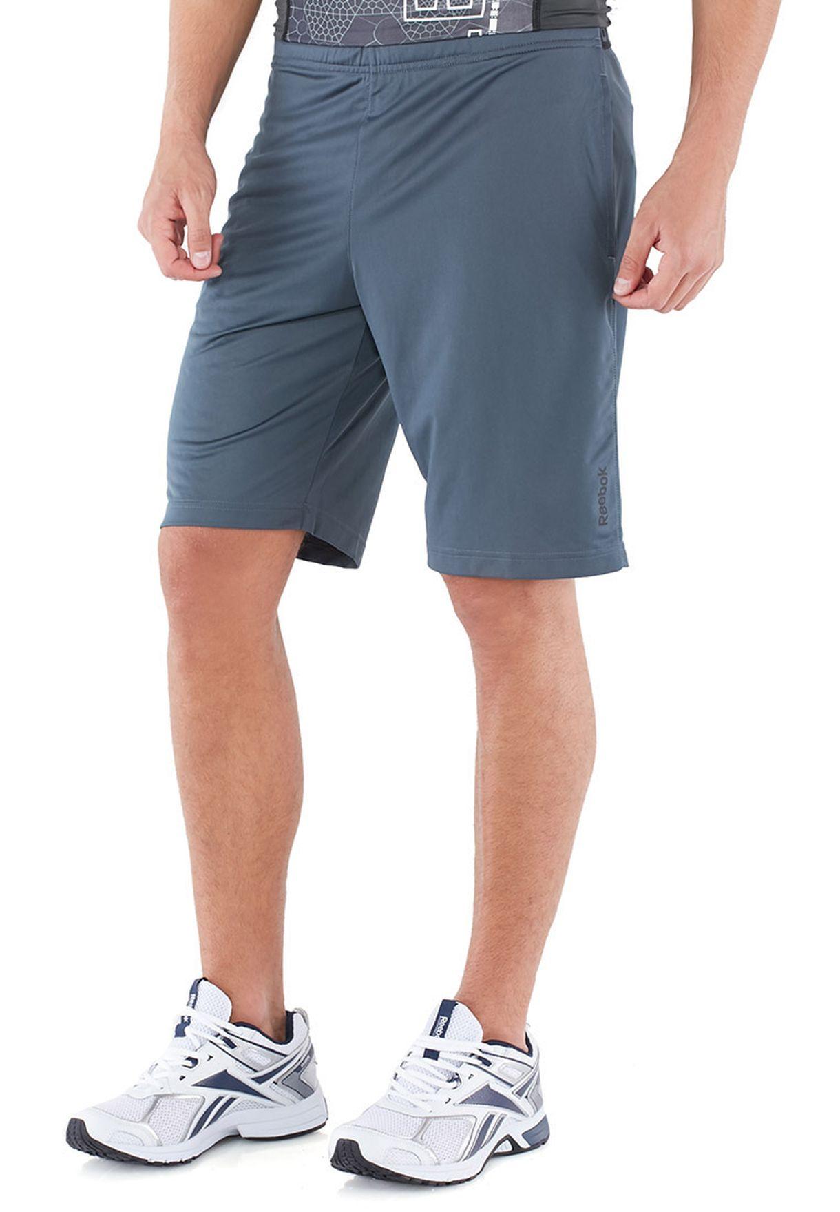 517e84775a0 Shop Reebok grey Training Shorts B86493 for Men in Qatar - RE019AT67MFK