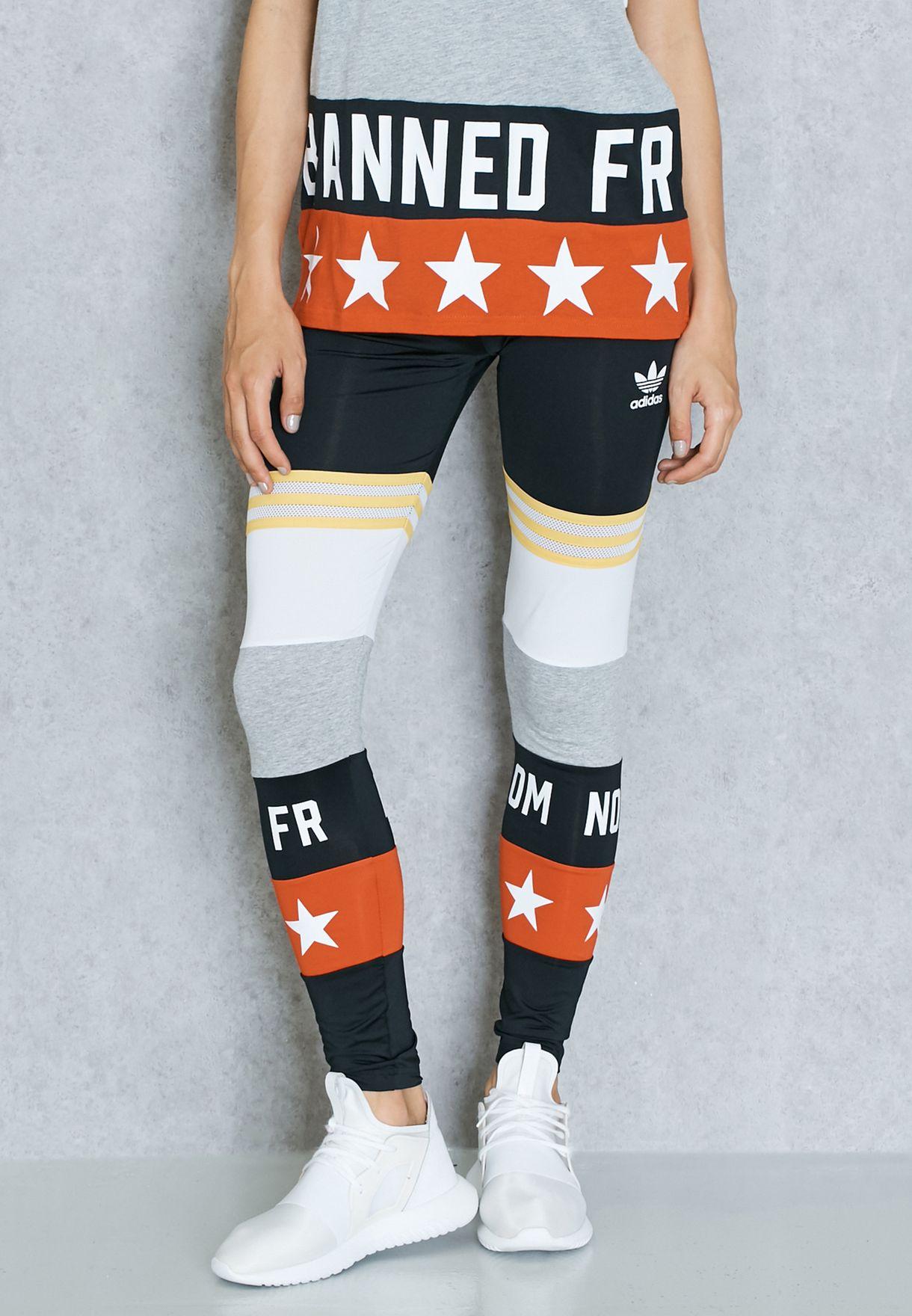 715a0089878798 Shop adidas Originals multicolor Rita Ora Leggings AY7137 for Women ...