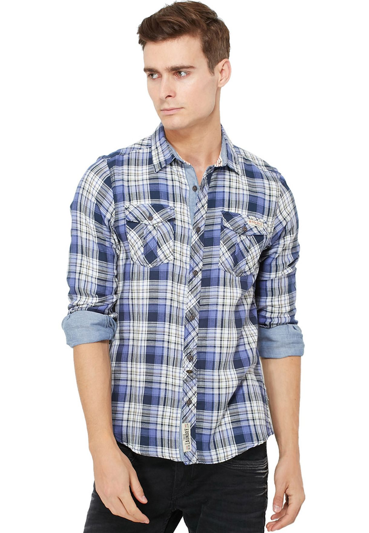 910babcae تسوق قميص كاروهات ماركة طوكيو لوندري لون متعدد الألوان في البحرين ...