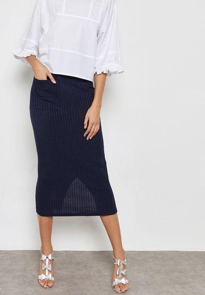Back Slit Skirt