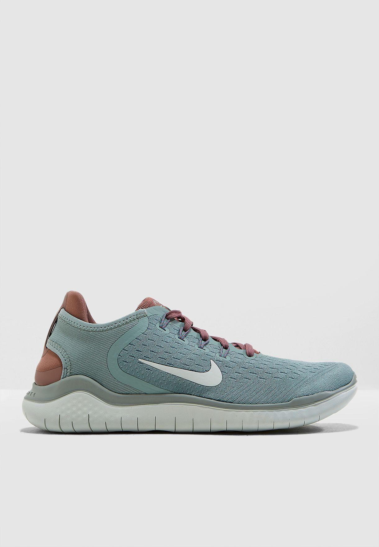 Shop Nike green Free RN 2018 942837-300 for Women in Saudi ...
