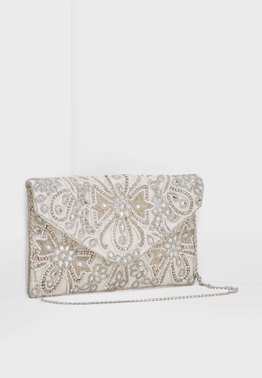 Beaded Envelope Clutch