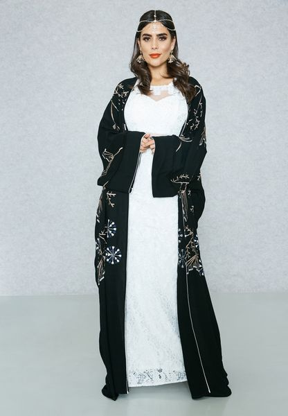 Embroidered Beaded Abaya
