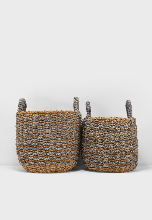 Set Of 2 Sea Grass Baskets